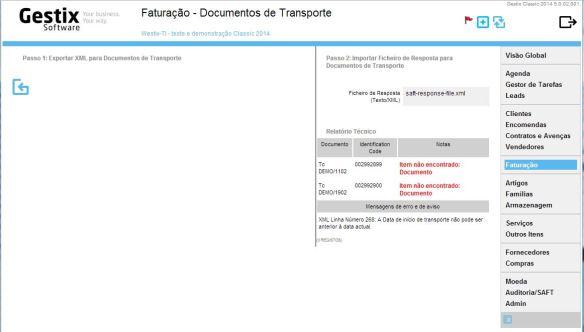 O ficheiro XML da resposta obtido do site Finanças AT inclui uma secção FileProcResult onde são apresentados os resultados.