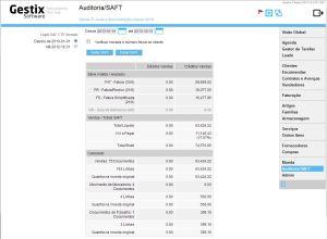Extrair o SAFT no Gestix permite especificar qual o formato a utilizar, 2013 ou anterior.