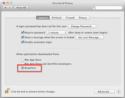 Set Security & Privacy settings