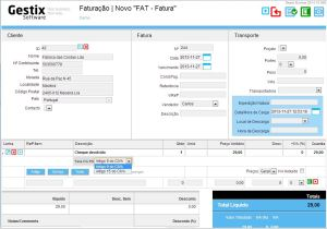 Fazer fatura no Gestix com IVA Zero