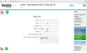 Definições da Taxa IVA 0 no Gestix