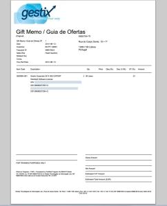 Imprimindo Gift Memo / Guia de Ofertas