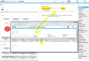 Searching the dashboard with IMEI or cellphone number and getting to the sales document